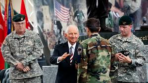 Ross Perot honoring US Military personnel.