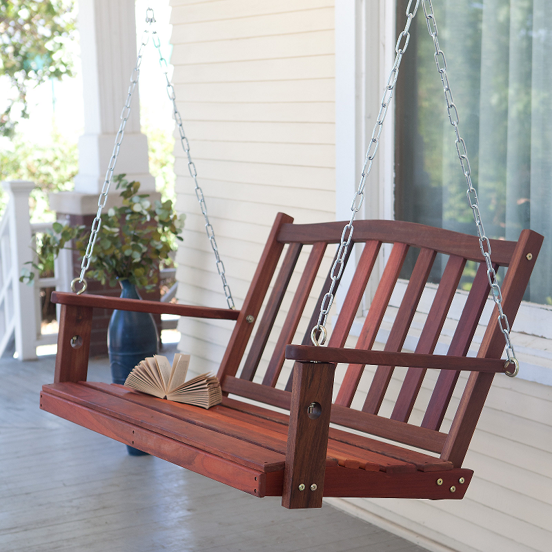 K.M. Saint James' back porch swing
