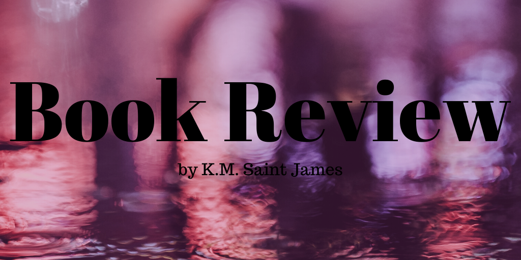 pink colored background with words: Book Review in black