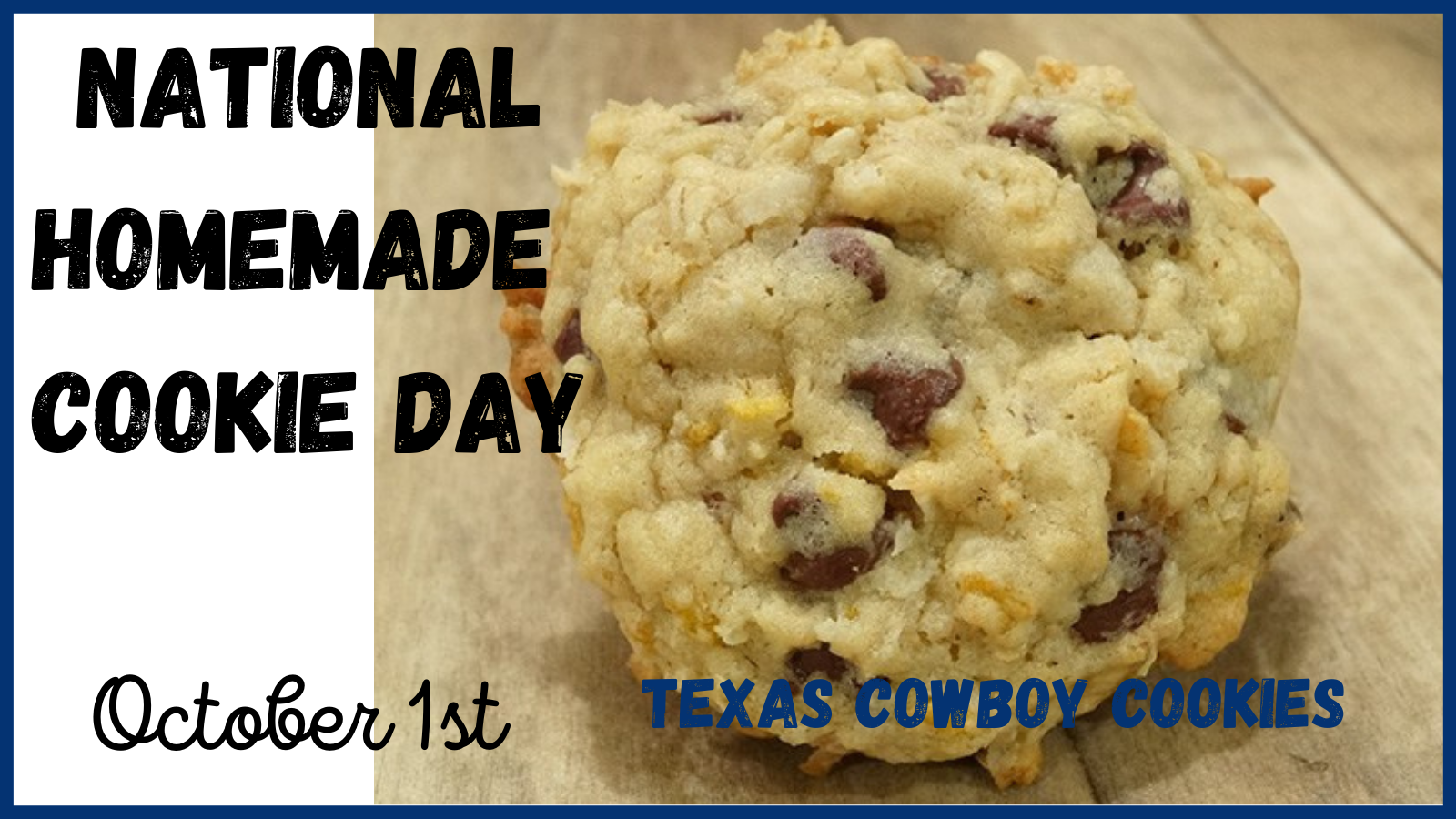 Texas Mansion cookies, looks like a chocolate chip cookie