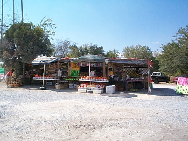 Texas road-side fruit stand